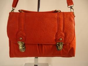 ASOS Traditional Colours Red Daybag Briefcase Purse Handbag with Shoulder Strap