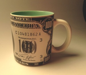 $100 coffee mug