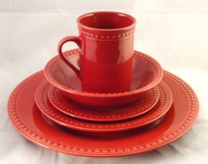 red dinnerware