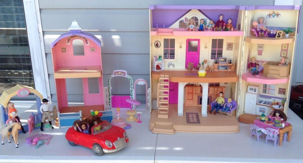 Fisher Price Loving Family Doll House Amp Horse Stable Car