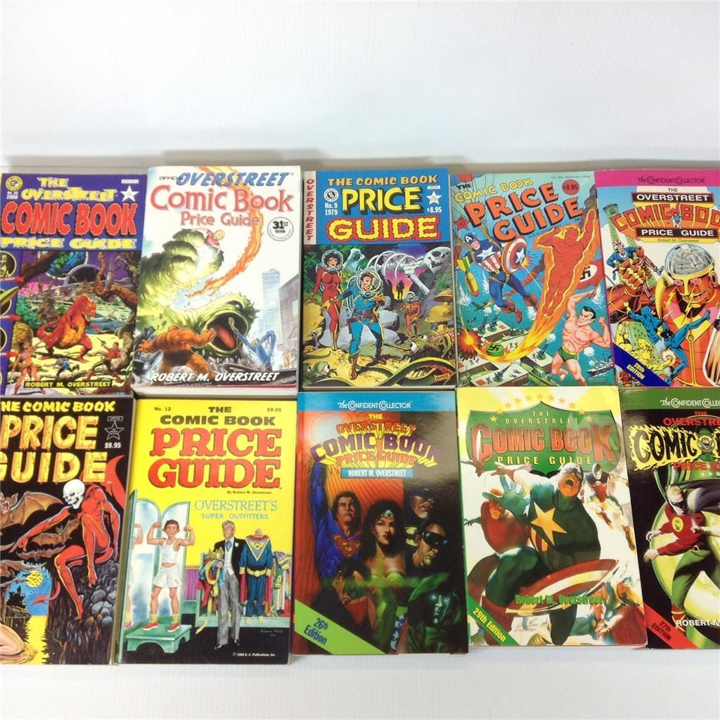Free Comic Book Day Price Guide: OVERSTREET COMIC BOOK PRICE GUIDE Back Issue Lot #9-12