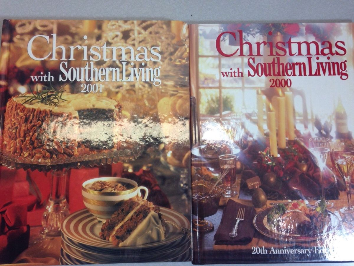Christmas with southern living cookbooks 2000 2001 Southern living change of address